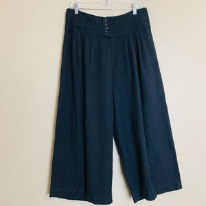 Cartonnier Anthropologie Linen Blend Culottes Pant
